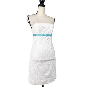 Lilly Pulitzer White Eyelet Lace Strapless Dress 2
